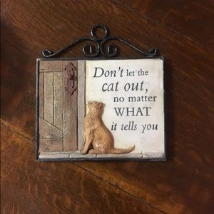 Other - Cat plaque